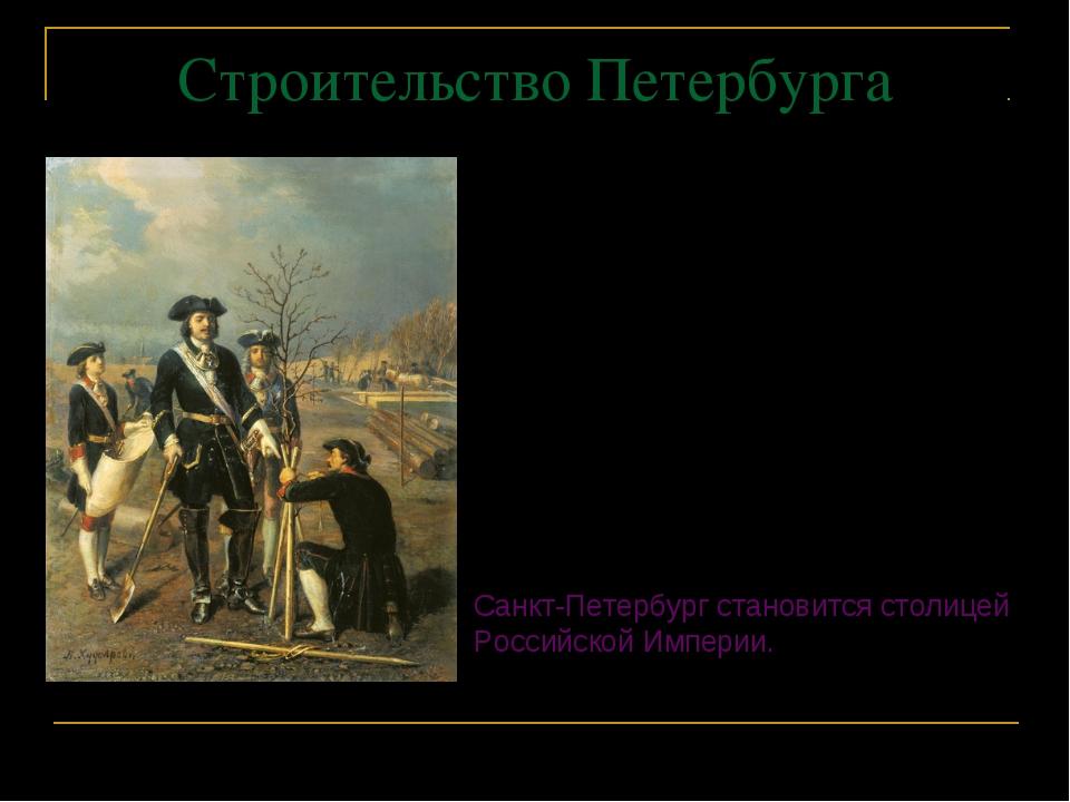 Строительство Петербурга Особое значение имело строительство каменного Петерб...