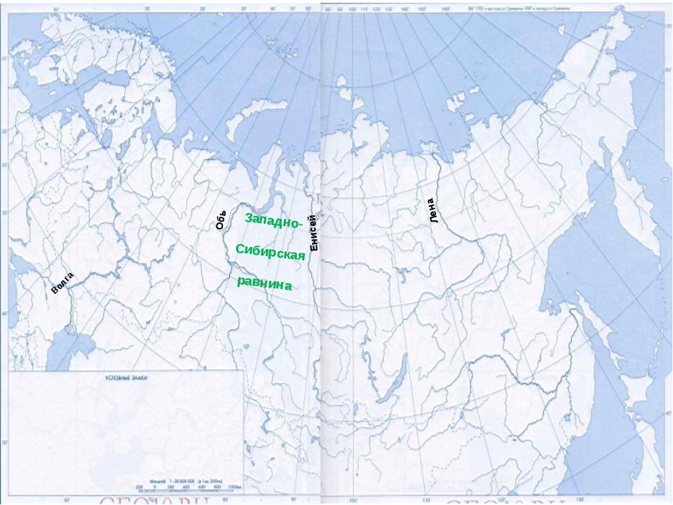 Лена Енисей Обь Западно- Сибирская равнина Волга