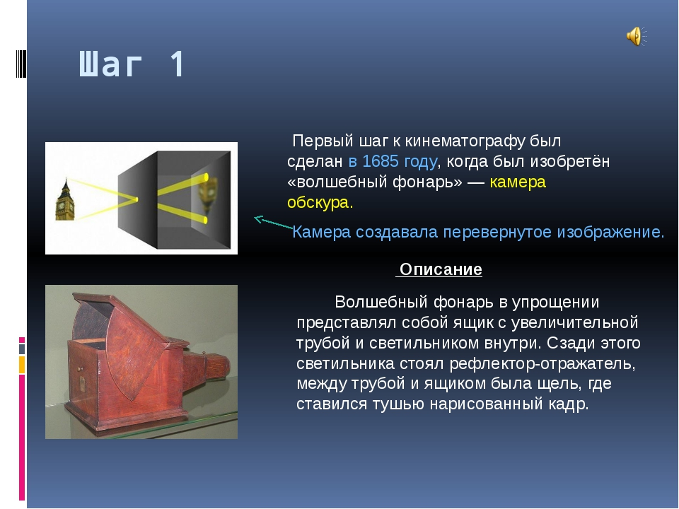 Шаг 1 Волшебный фонарь в упрощении представлял собой ящик с увеличительной т...