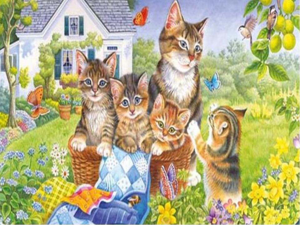 картинки по развитию речи кошка с котятами