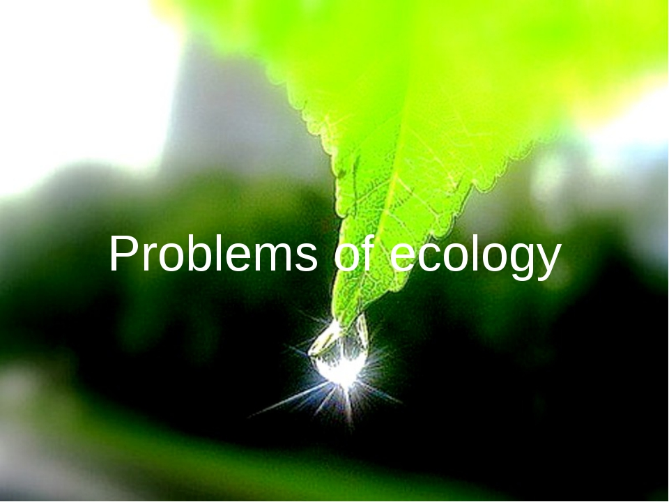 Problems of ecology Problems of ecology
