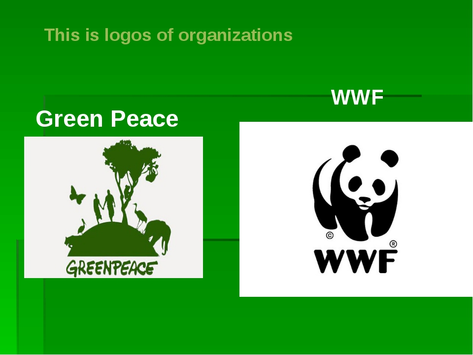 This is logos of organizations Green Peace WWF