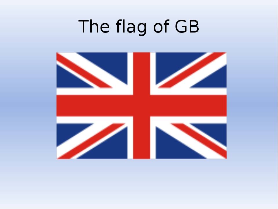 The flag of GB