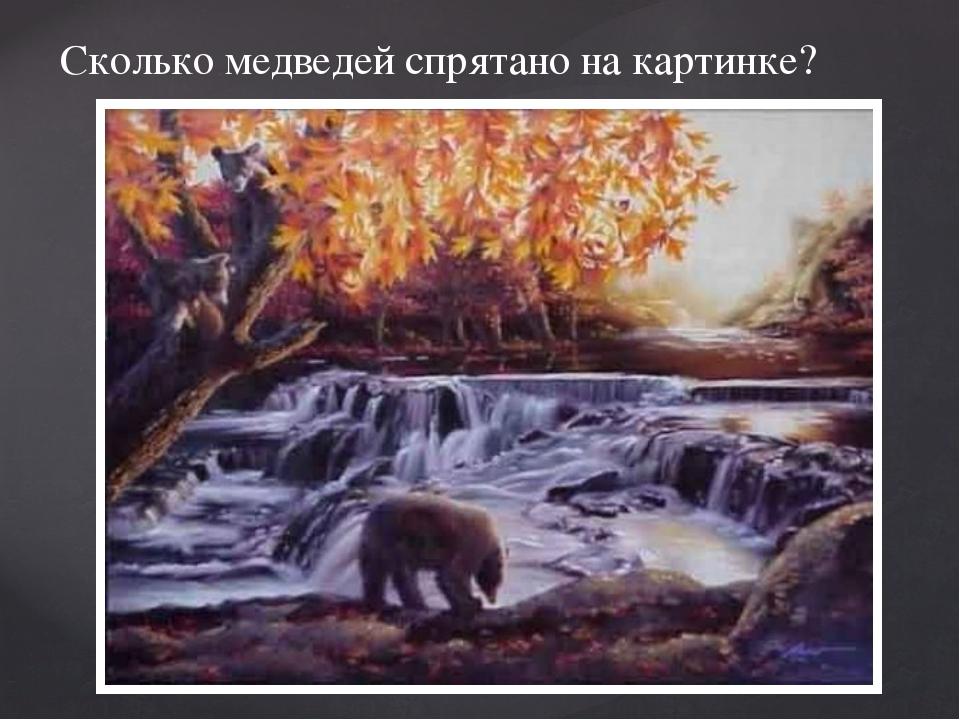 Сколько медведей спрятано на картинке?