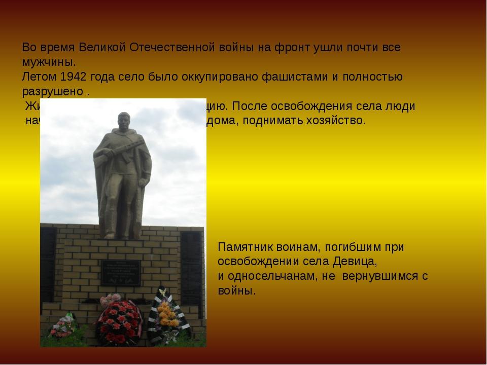 Во время Великой Отечественной войны на фронт ушли почти все мужчины. Летом 1...