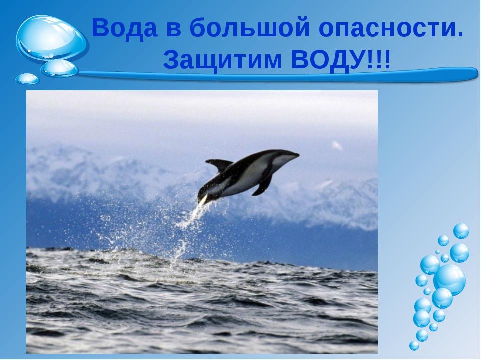 Вода в большой опасности. Защитим ВОДУ!!!
