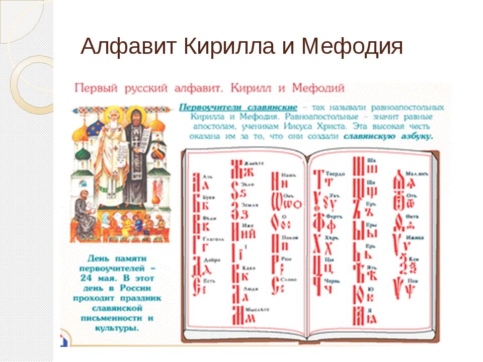 Алфавит Кирилла и Мефодия