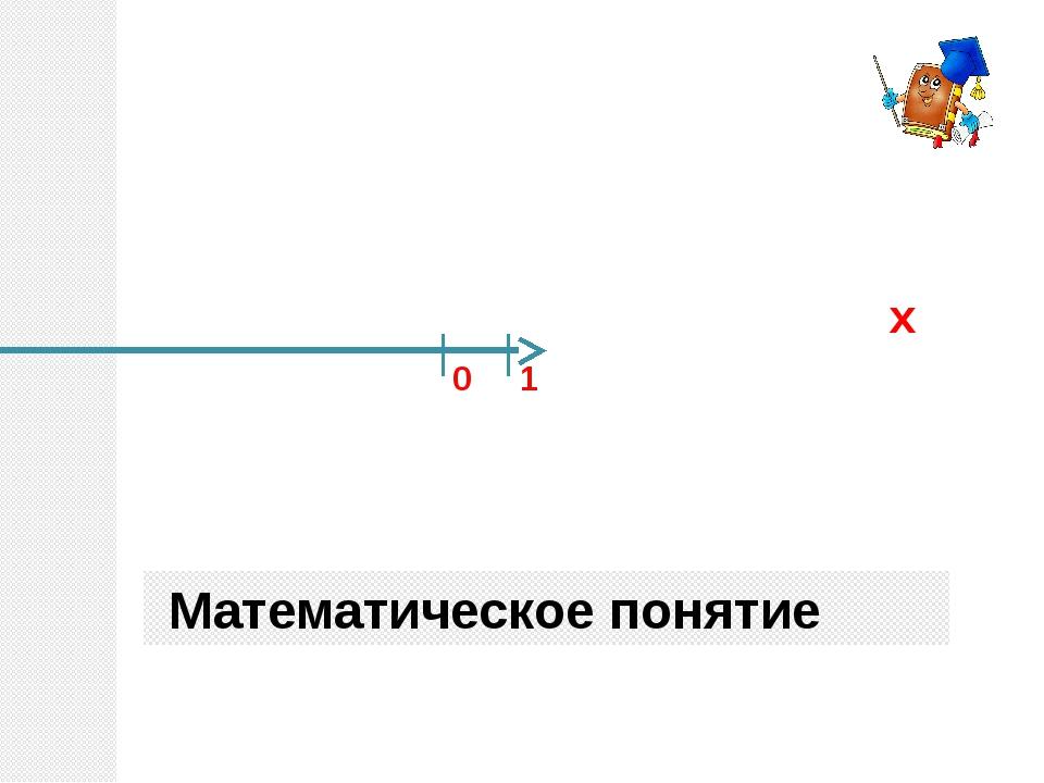 1 0 х Математическое понятие