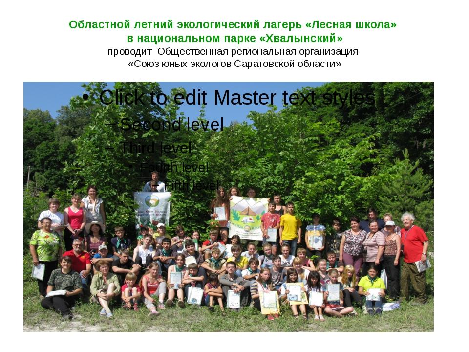 Областной летний экологический лагерь «Лесная школа» в национальном парке «Хв...
