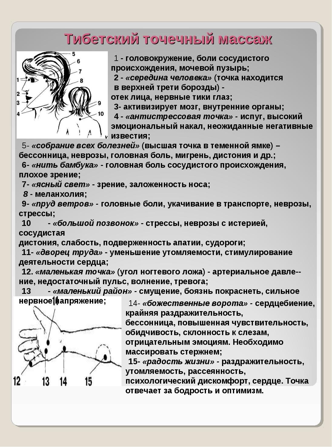 Тибетский точечный массаж 5- «собрание всех болезней» (высшая точка в теменн...