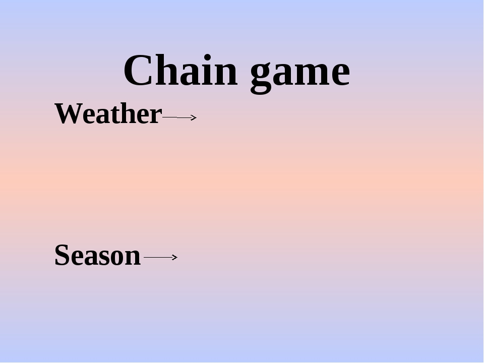 Chain game Weather Season