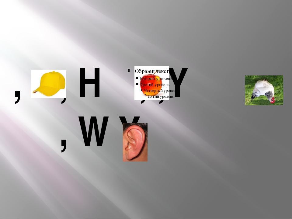 , , H , ,Y , W Y