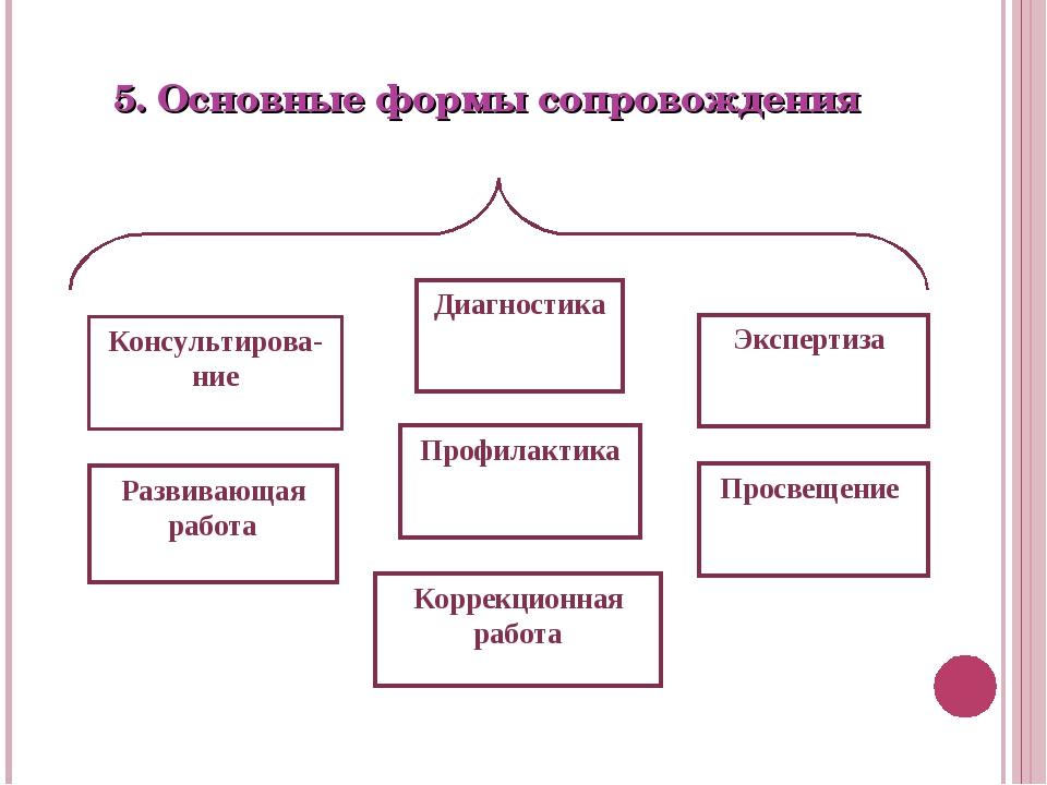 5. Основные формы сопровождения