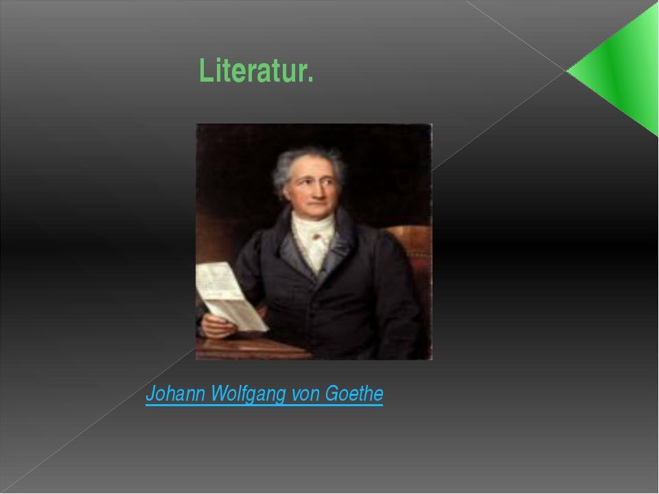 Literatur. Johann Wolfgang von Goethe