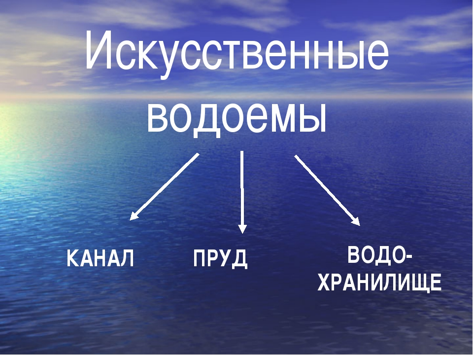 Искусственные водоемы КАНАЛ ПРУД ВОДО-ХРАНИЛИЩЕ