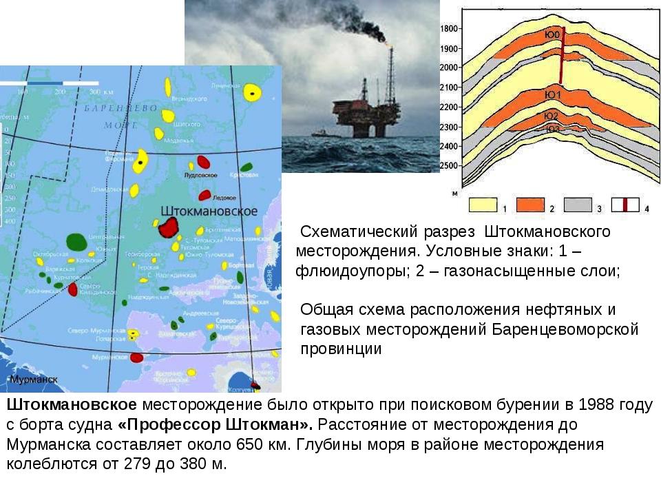 Штокмановское месторождение было открыто при поисковом бурении в 1988году с...
