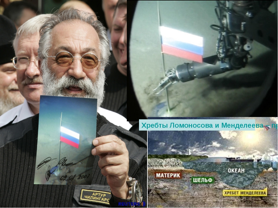 Хребты Ломоносова и Менделеева – продолжение российского шельфа!