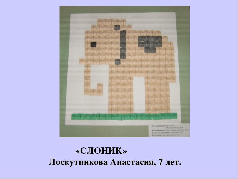 «СЛОНИК» Лоскутникова Анастасия, 7 лет.