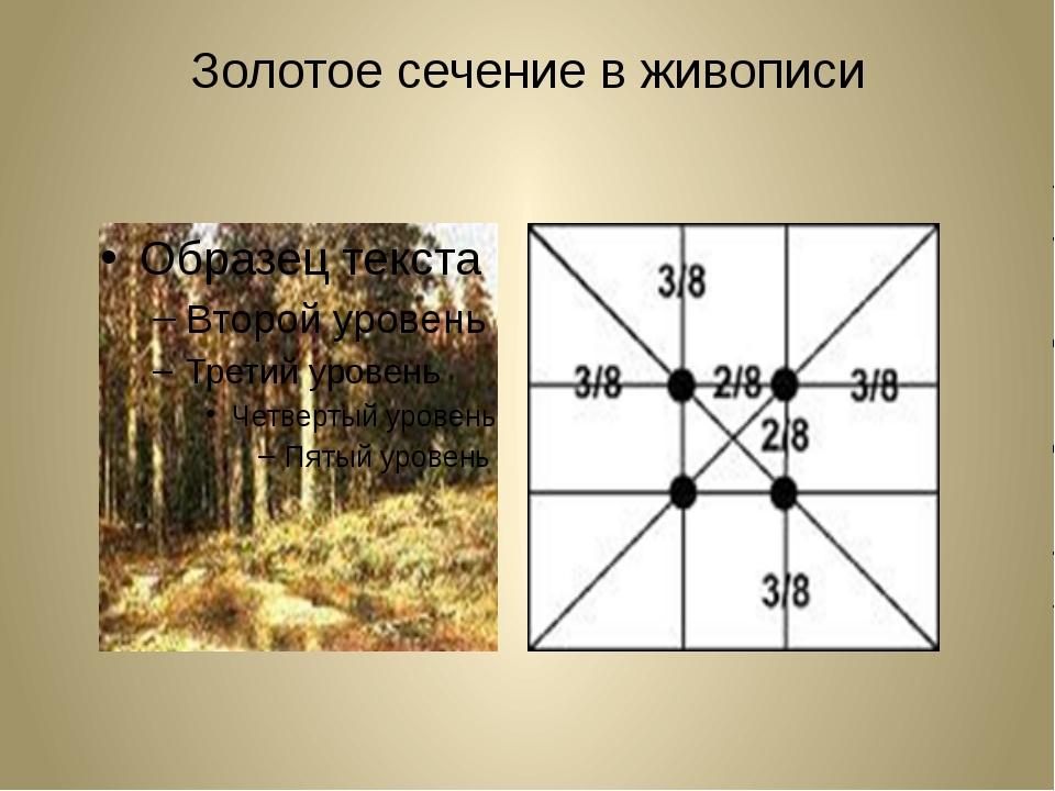 пример золотого сечения в картинках против него было