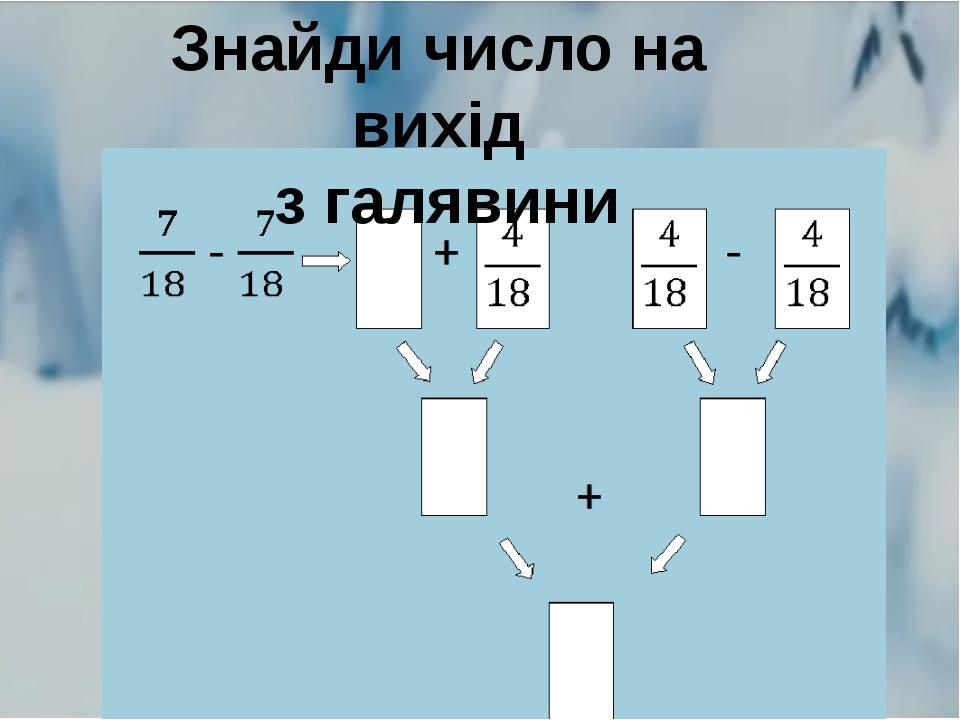 Знайди число на вихід з галявини