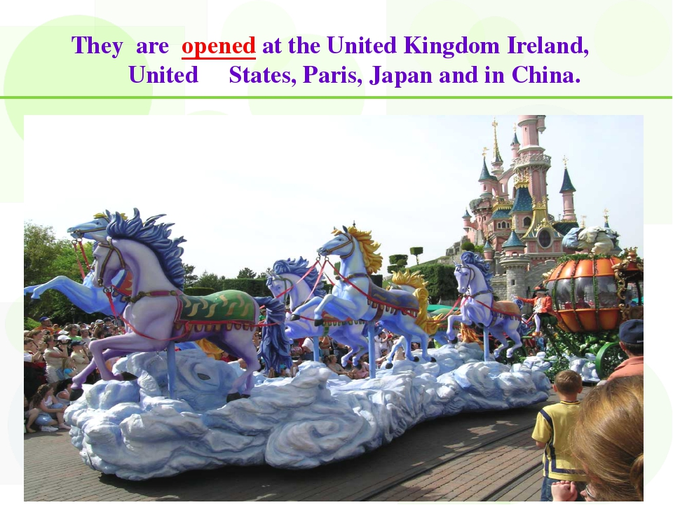 They are opened at the United Kingdom Ireland, United States, Paris, Japan an...