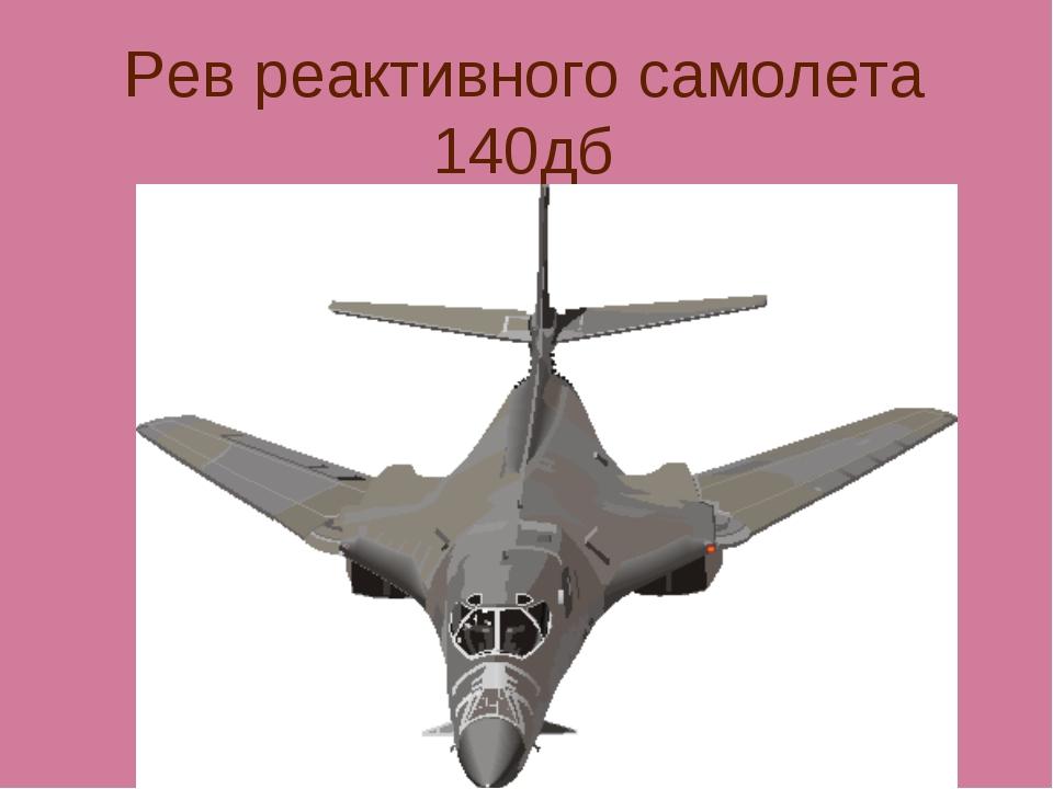 Рев реактивного самолета 140дб