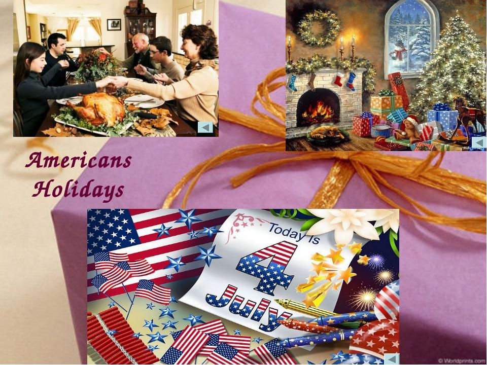 Americans Holidays