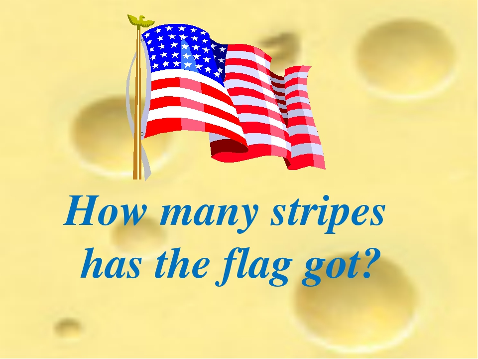 How many stripes has the flag got?