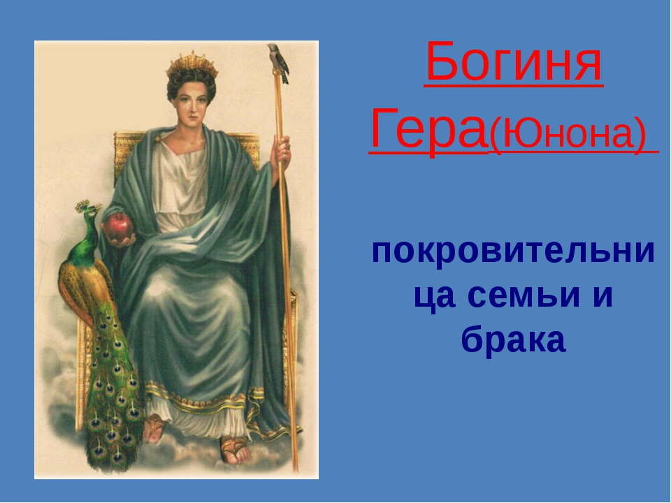 Богиня Гера(Юнона)   покровительница семьи и брака