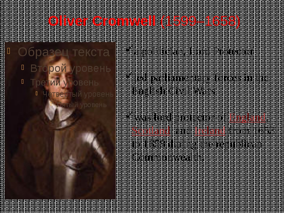 Oliver Cromwell (1599–1658) a politician, Lord Protector led parliamentary fo...