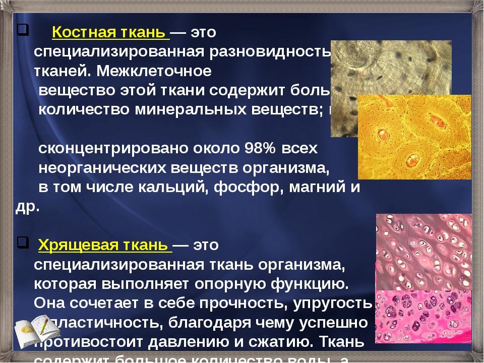 Костная ткань — это специализированная разновидность тканей. Межклеточное ве...