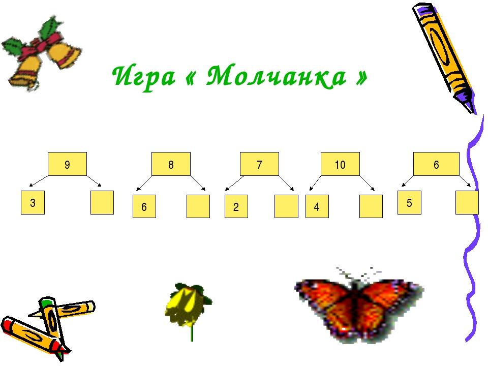 Игра « Молчанка » 9 8 7 10 6 3 6 2 4 5