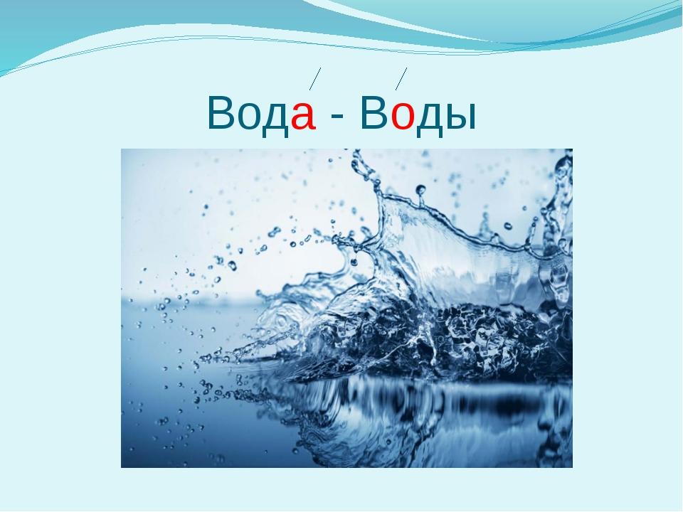 Вода - Воды