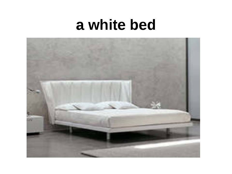 a white bed