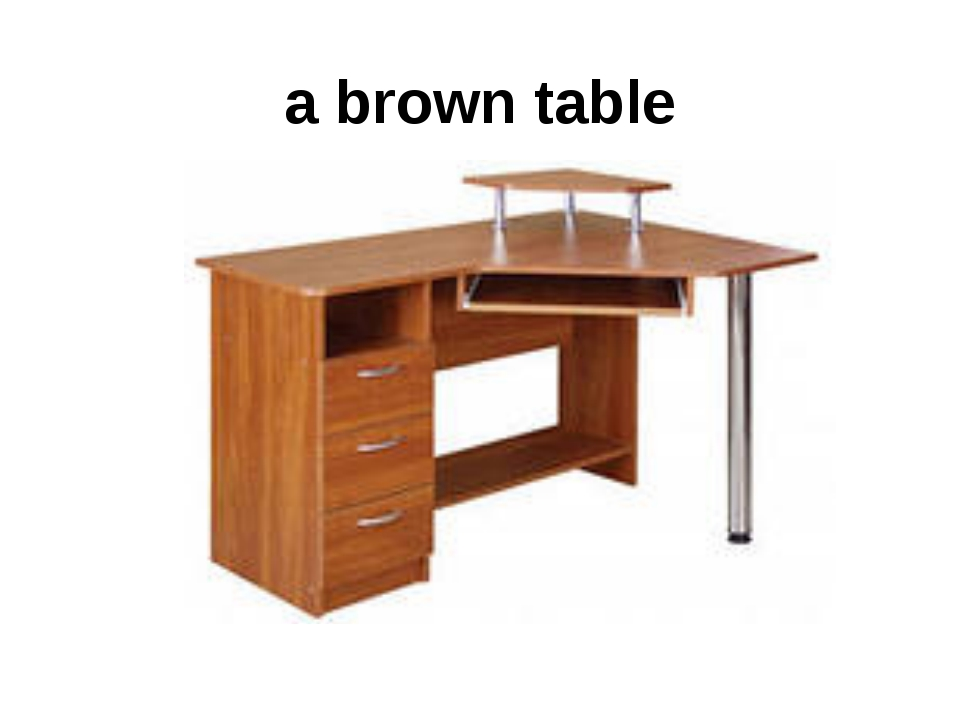 a brown table