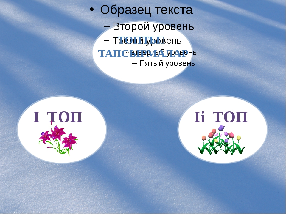 ТОПТЫҚ ТАПСЫРМАЛАР I ТОП Ii ТОП