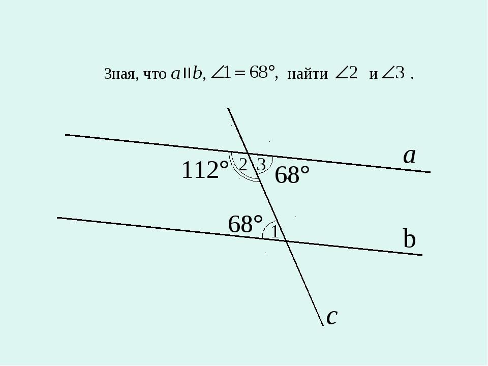 Зная, что a b, найти и . 1 2 3 a b с
