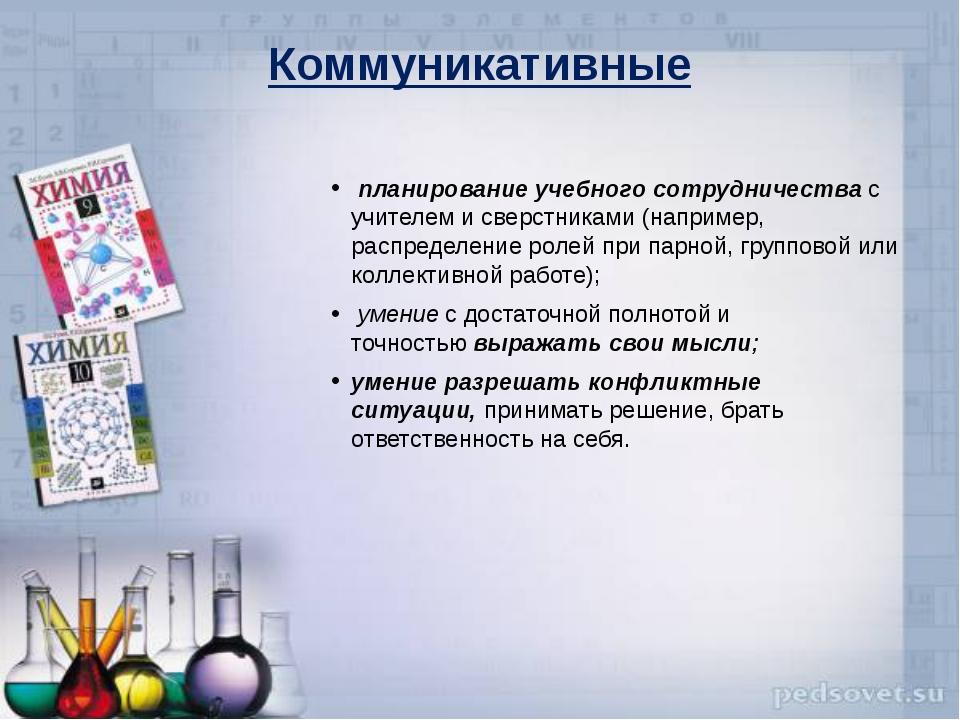 Коммуникативные планирование учебного сотрудничествас учителем и сверстника...