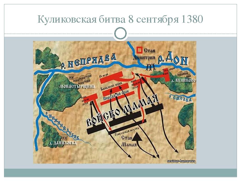 Куликовская битва 8 сентября 1380