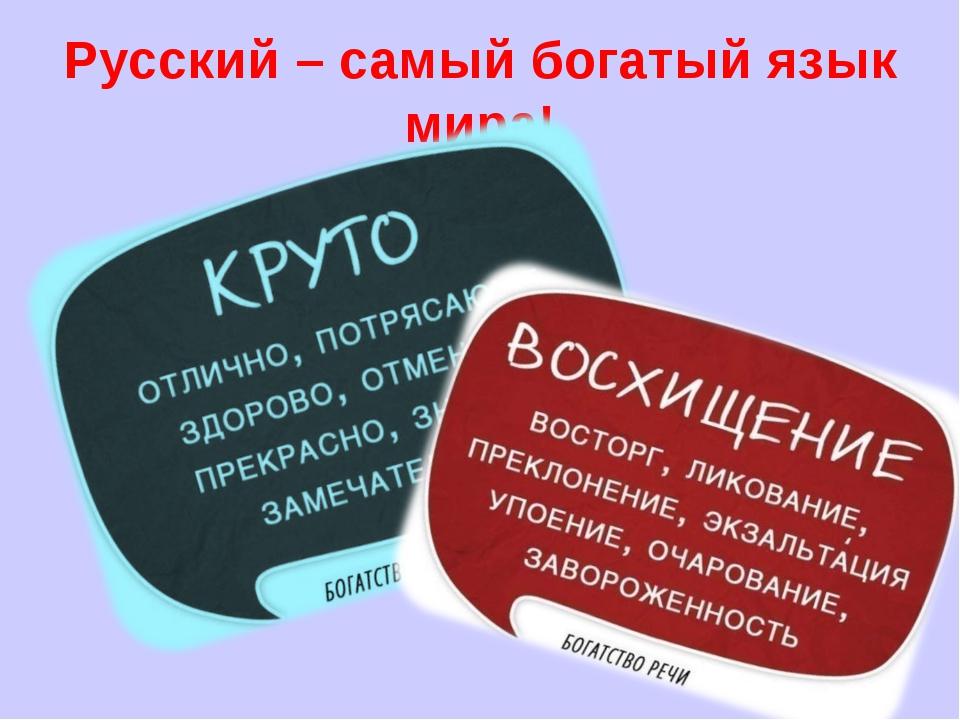 Русский – самый богатый язык мира!