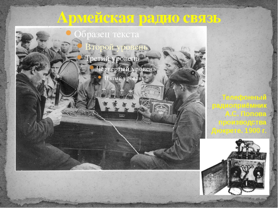 Армейская радио связь Телефонный радиоприёмник А.С. Попова производства Дюкре...