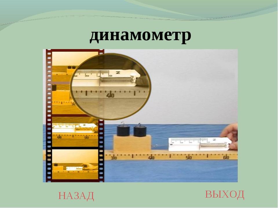 НАЗАД ВЫХОД динамометр