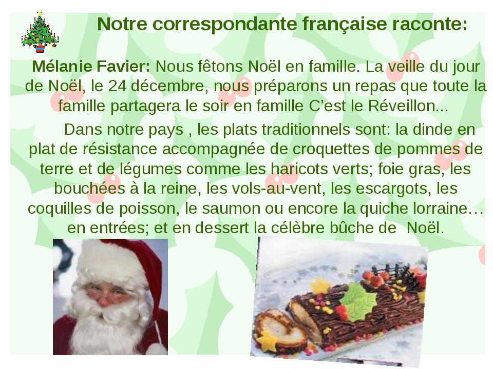 Notre correspondante française raconte: Mélanie Favier: Nous fêtons Noël en f...
