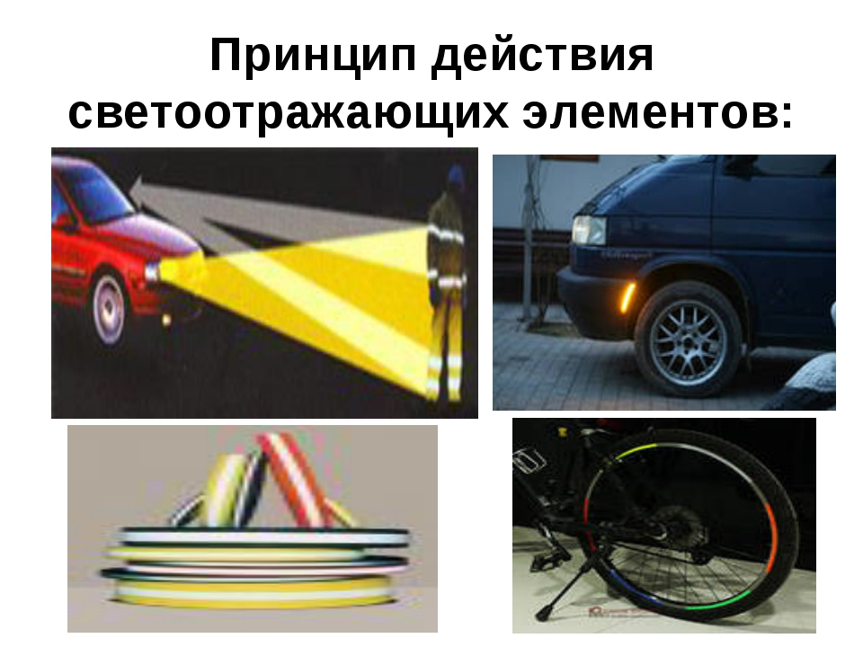 Принцип действия светоотражающих элементов: