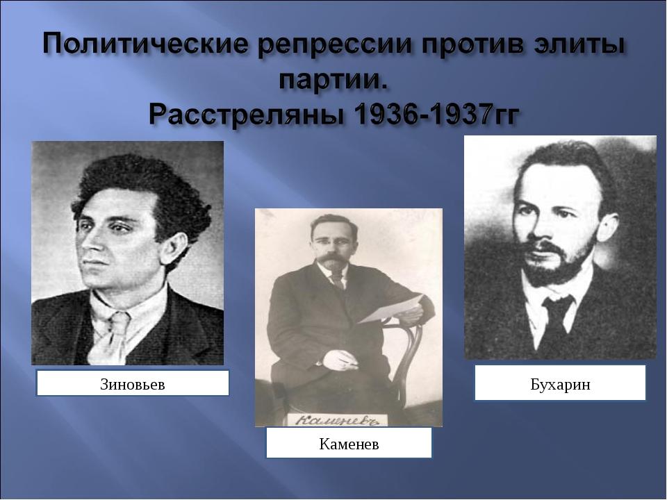 Зиновьев Каменев Бухарин