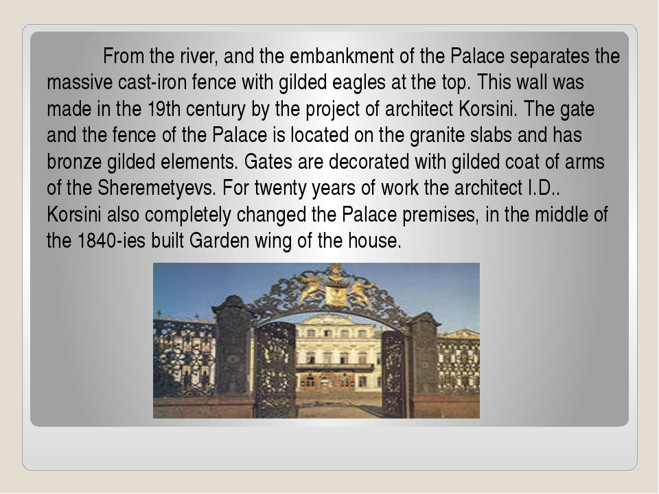 From the river, and the embankment of the Palace separates the massive cast...