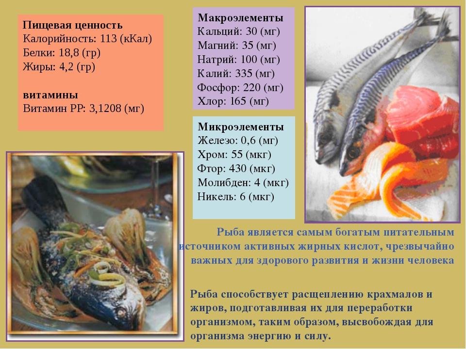 Рыба является самым богатым питательным источником активных жирных кислот, чр...