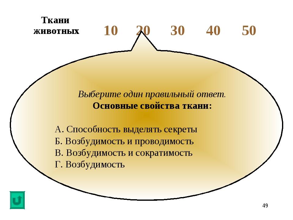 * Выберите один правильный ответ. Основные свойства ткани: А. Способность выд...