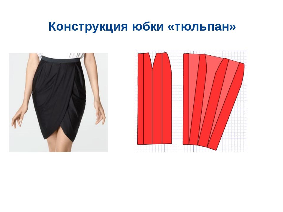 Конструкция юбки «тюльпан»