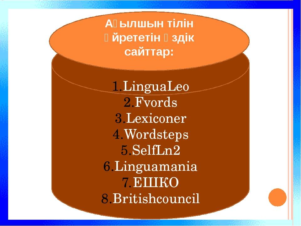 LinguaLeo Fvords Lexiconer Wordsteps SelfLn2 Linguamania ЕШКО Britishcouncil...